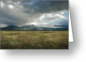 Spanish Peaks Greeting Cards -  Evening Storm Greeting Card by Ron Weathers