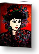 Maiko Greeting Cards -  Geisha Girl Greeting Card by Natalie Holland