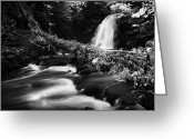 Flooding Greeting Cards -  Gleno or Glenoe Waterfall beauty spot county antrim northern ireland Greeting Card by Joe Fox