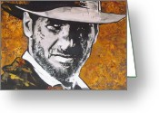 Ark Greeting Cards -  Harrison Ford - Indiana Jones  Greeting Card by Eric Dee