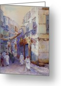 Arabia Greeting Cards -  Hurrying Home Greeting Card by Dorothy Boyer