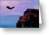Sunrise Mixed Media Greeting Cards -  Im free to fly Greeting Card by Evelyn Patrick
