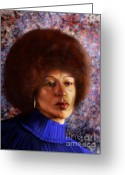 Racial Greeting Cards -  Impassable Me - Angela Davis1 Greeting Card by Reggie Duffie