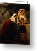 Alma-tadema Greeting Cards -  Italian Women from Abruzzo  Greeting Card by Sir Lawrence Alma-Tadema