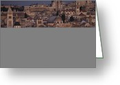 Sanctified Greeting Cards -  Jerusalem, Shows Dome Of The Rock Greeting Card by Annie Griffiths