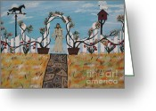 Board Fence Greeting Cards -  Jesus I Am The Way Greeting Card by Jeffrey Koss