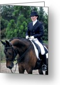 Dressage Photo Greeting Cards -  Kathryn and her Lancelot Greeting Card by Terry Kirkland Cook