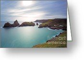 Contre Jour Greeting Cards -  Kynance Cove Coutre-jour LE Greeting Card by Richard Thomas