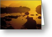 Gloaming Greeting Cards -  Lake Killarney in the Gloaming Greeting Card by Carl Purcell