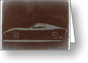 Concept Digital Art Greeting Cards -  Lamborghini Miura Greeting Card by Irina  March