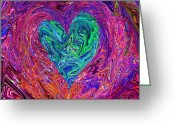 Kenneth James Greeting Cards -  Love From The Ripple Of Thought  V 3  Greeting Card by Kenneth James