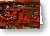 Big Wheel Greeting Cards -  Mccormick Tractor - farm equipment  - nostalgia - vintage Greeting Card by Lee Dos Santos