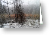 Snow Framed Prints Greeting Cards - ... Merry Christmas ... Greeting Card by Renata Vogl