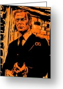 Pulp Greeting Cards -  Michael Caine Greeting Card by Giuseppe Cristiano