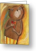 Childsroom Greeting Cards -  my dear Bear Greeting Card by Sonja Mengkowski