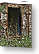 Ghostly Greeting Cards -  No Door Greeting Card by Sandy Poore