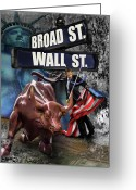 Wall Street Painting Greeting Cards -  Ole  Obama - Ole - Ole - Ole Greeting Card by Reggie Duffie
