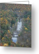 Photos Of Autumn Greeting Cards -  PA Valley View Greeting Card by Cheryl Perin