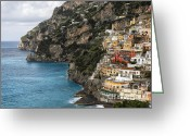 European Union Greeting Cards -  Positano Coastline Campania Italy  Greeting Card by George Oze