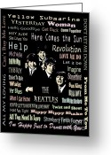 Paul Mccartney Greeting Cards -  Revolution Greeting Card by Andrzej  Szczerski
