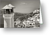 Thira Photo Greeting Cards -  Santorini Greeting Card by Manolis Tsantakis