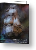 Sails Digital Art Greeting Cards -  Sea stories.... Greeting Card by Andrzej  Szczerski