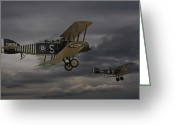 Military Aircraft Greeting Cards -  Show me the way Home Greeting Card by Pat Speirs