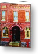 Orthodox Rabbi Greeting Cards -  Temple Solomon Congregation Greeting Card by Carole Spandau