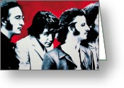 Ludzska Greeting Cards - - The Beatles - Greeting Card by Luis Ludzska
