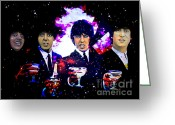 Grammy Greeting Cards -  The Beatles Greeting Card by Andrzej  Szczerski