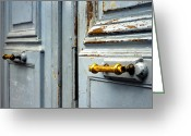 Entrance Door Greeting Cards -  The Blue Door Greeting Card by Philip Sweeck