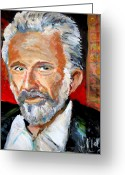 Interesting Art Greeting Cards -   The Most Interesting Man In The World Greeting Card by Jon Baldwin  Art