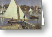 Argenteuil Greeting Cards -  The Seine at Argenteuil Greeting Card by Pierre Auguste Renoir