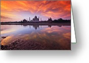 Sunset Image Greeting Cards - .: The Taj :. Greeting Card by Photograph By Ashique