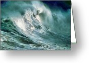 Storm Digital Art Greeting Cards -  Tsunami - Raging Sea Greeting Card by Russ Harris