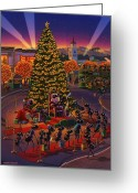 Claus Greeting Cards -  Visiting Santa Anta  Greeting Card by Robin Moline