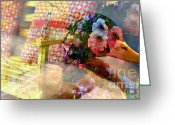 Symbolic Waiting Greeting Cards -  Waiting - Art in Me Art in You Greeting Card by Fania Simon