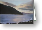 Washington Pastels Greeting Cards -  Washingtons San Juan Islands Greeting Card by Terri Thompson