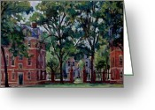 Western Massachusetts Greeting Cards -  Williams College Quad Greeting Card by Thor Wickstrom