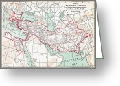 B.c Greeting Cards - Map Of Macedonian Empire Greeting Card by Granger