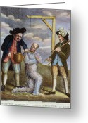 Political Acts Greeting Cards - Tarring & Feathering, 1774 Greeting Card by Granger