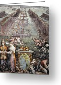 Warship Greeting Cards - Battle Of Lepanto, 1571 Greeting Card by Granger