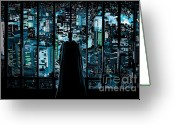Gotham City Greeting Cards - 004. Ready To Believe In Good Greeting Card by Tam Hazlewood