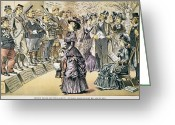 Political Acts Greeting Cards - Marriage For Titles, 1895 Greeting Card by Granger