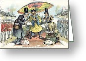 Missionary Greeting Cards - Missionary Cartoon, 1895 Greeting Card by Granger