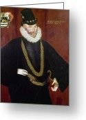 Elizabethan Greeting Cards - Sir John Hawkins Greeting Card by Granger