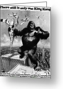 New York Film Greeting Cards - King Kong, 1976 Greeting Card by Granger