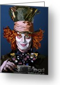 Mad Hatter Digital Art Greeting Cards - 015. What Can You Do Greeting Card by Tam Hazlewood