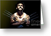Wolverine Greeting Cards - 029. Adamantium Greeting Card by Tam Hazlewood