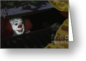 Tv Show Greeting Cards - 036. They All Float Down Here Greeting Card by Tam Hazlewood
